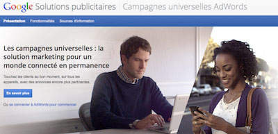 google adwords camapgnes universelles