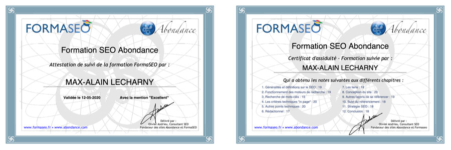 certification seo olivier andrieu